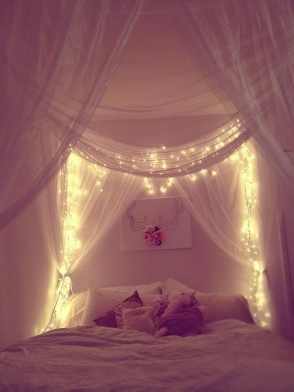 Gallery of 20 DIY Dorm Canopy Beds & cool-dorm-canopy-bed-lighting-ideas