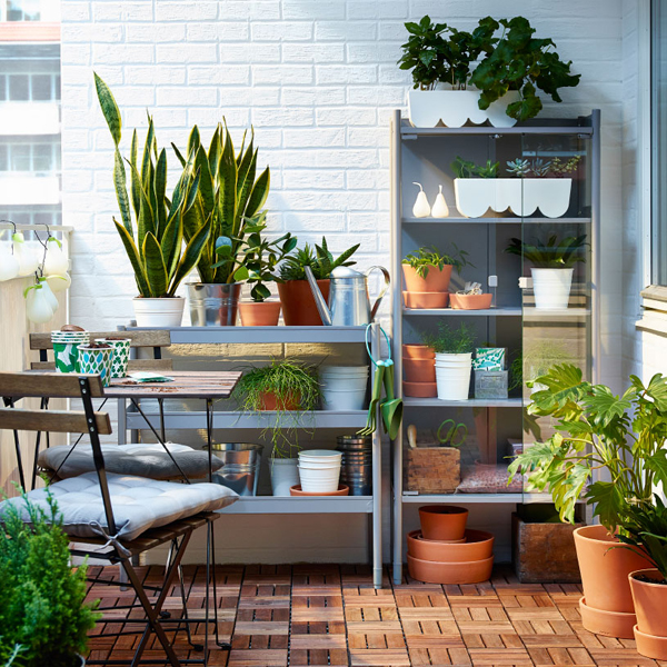 Ikea balcony with nature ideas
