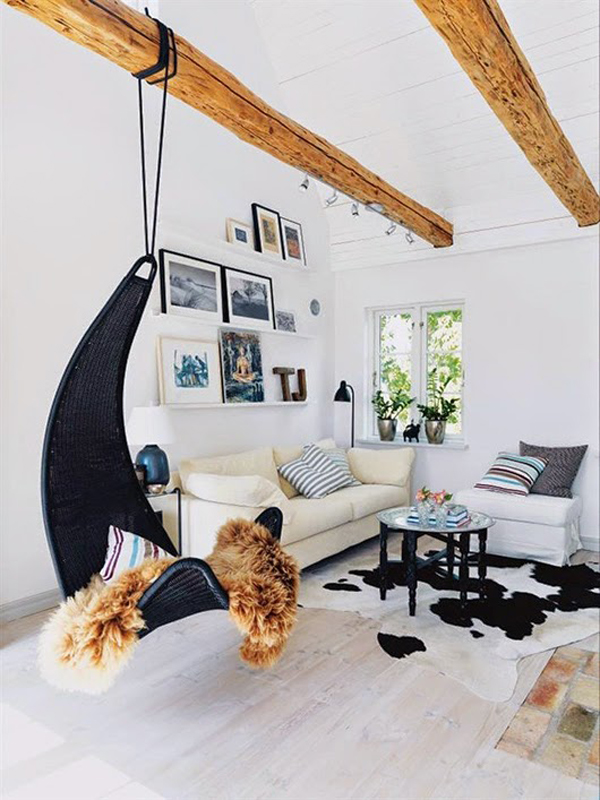 Get Creative With Indoor Hanging Chairs
