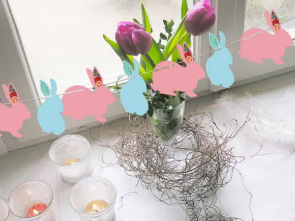 Diy bunny easter decorations for Rabbit decorations home