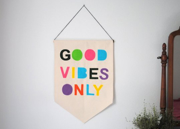 good vibes only wall bannersjpg