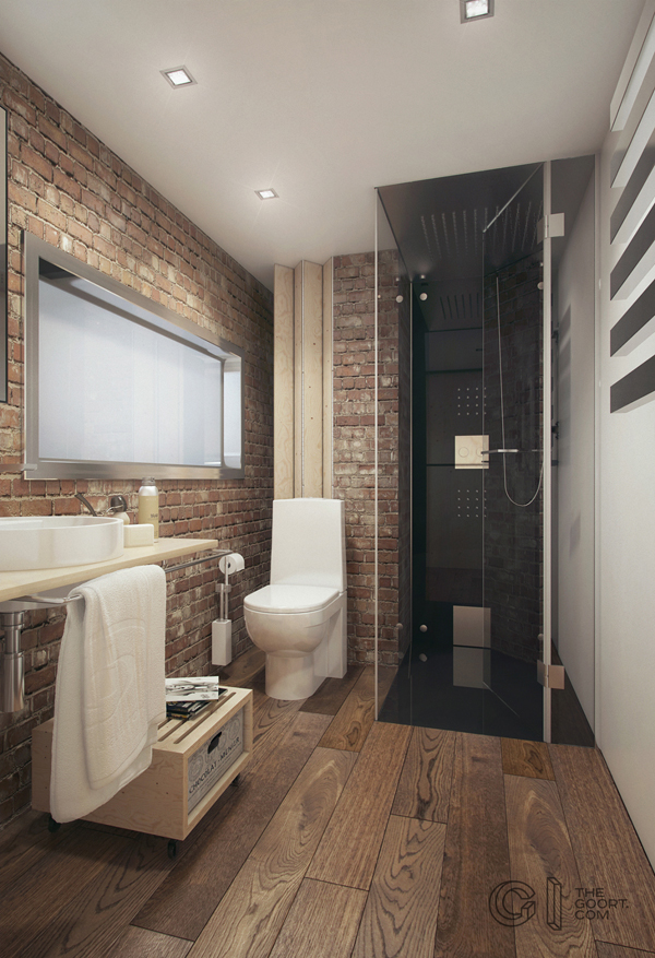 Haruki apartment bathroom for Super small bathroom ideas