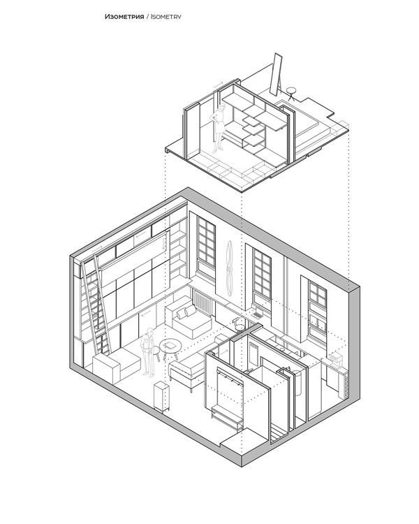 Haruki Loft Apartment Bedroom Layout