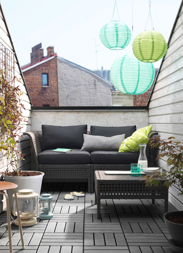 10 balcony design that inspire from ikea home design and for Table de balcon ikea