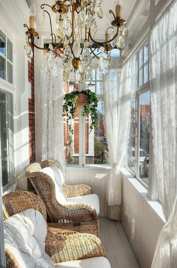20 small and cozy sunroom design ideas home design and for Sunroom curtains