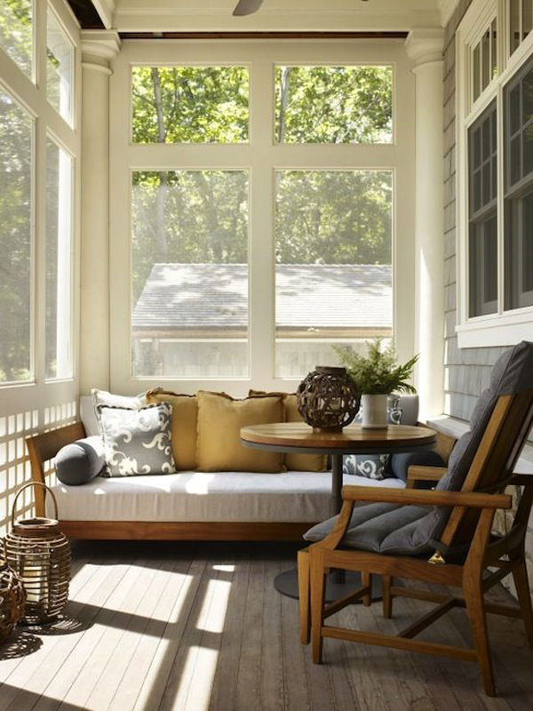 20 small and cozy sunroom design ideas home design and interior - Screened porch furniture ideas ...