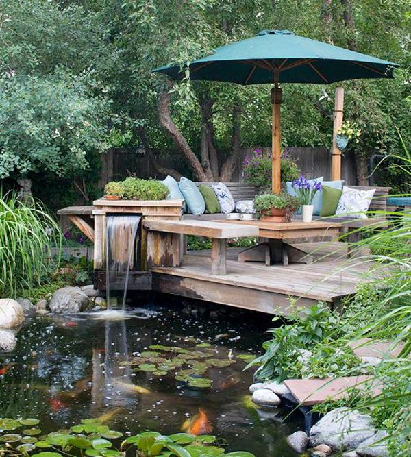 20 Beautiful Backyard Pond Ideas | Home Design And Interior on Pond Ideas Backyard id=85186
