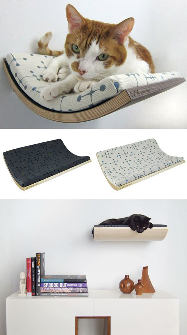 25 warm and cozy cat beds home design and interior for How to hang a bed from the wall