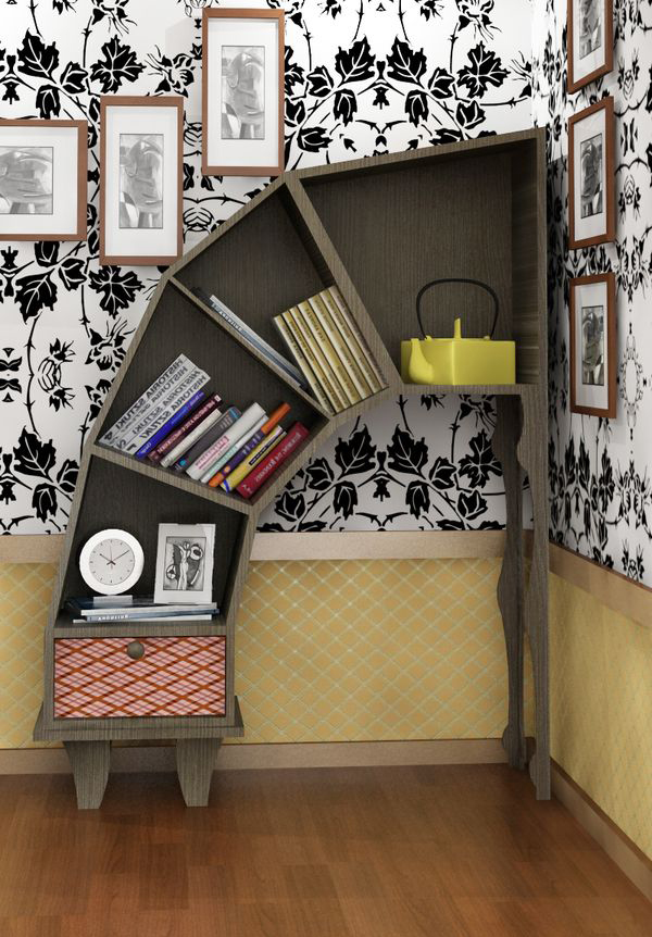 Alice in Wonderland Bookshelves 600 x 862
