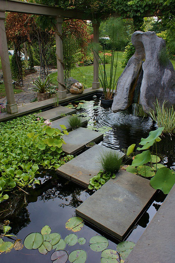 Minimalist backyard pond design ideas for Garden pond design plans