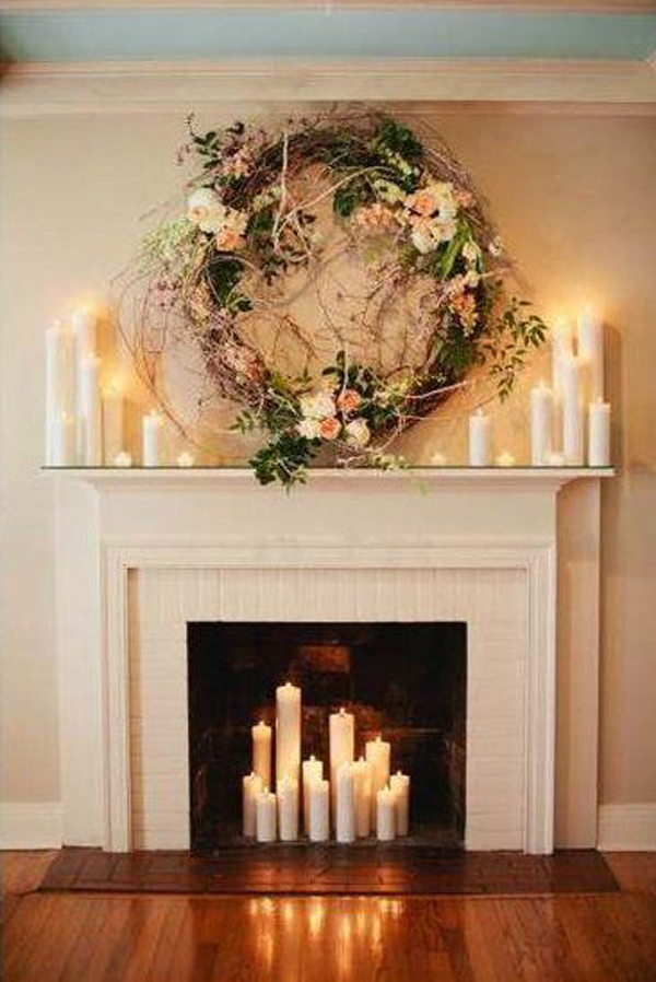 20 romantic fireplace candle ideas home design and interior - Decor de cheminee ...