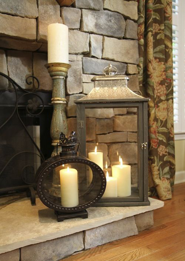 Http Homemydesign Com 2015 20 Romantic Fireplace Candle Ideas