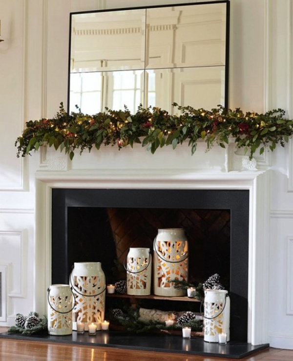 summer-fireplace-candle-decoration