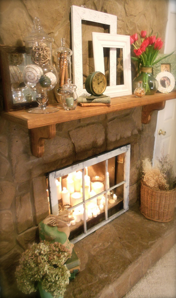 20 romantic fireplace candle ideas home design and interior Decorative hearth
