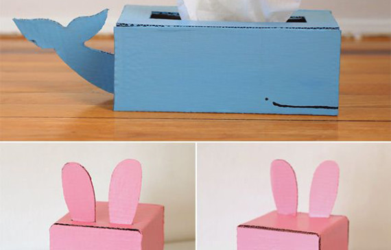 DIY-cardboard-tissue-box-holder