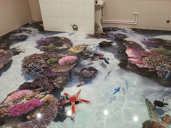 3D Ocean Epoxy Floors For Every Room Home Design And