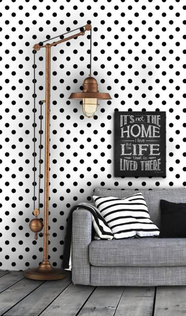 Black and white polka dot wallpaper for Black and white polka dot decorations