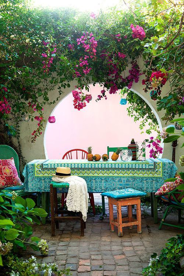 Bohemian Backyard Party : 15 Outdoor Bohemian Dining Room Ideas  Home Design And Interior