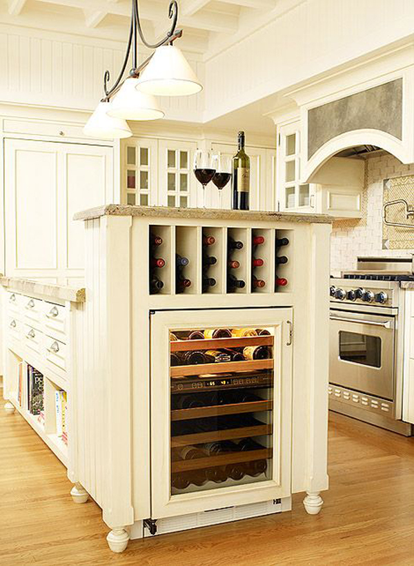 kitchen island wine storage 10 built in diy wine storage ideas home design and interior 5195