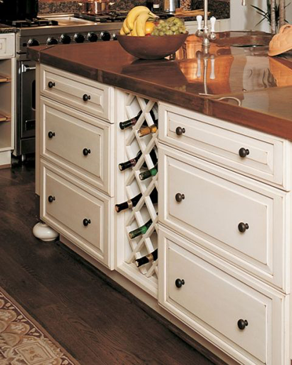 built in wine rack in kitchen cabinets 10 built in diy wine storage ideas home design and interior 12676