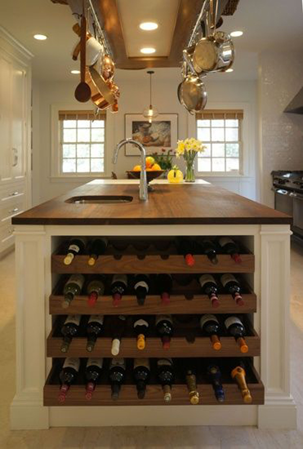 Diybuiltinwinestorageinkitchen - Diy wine storage ideas
