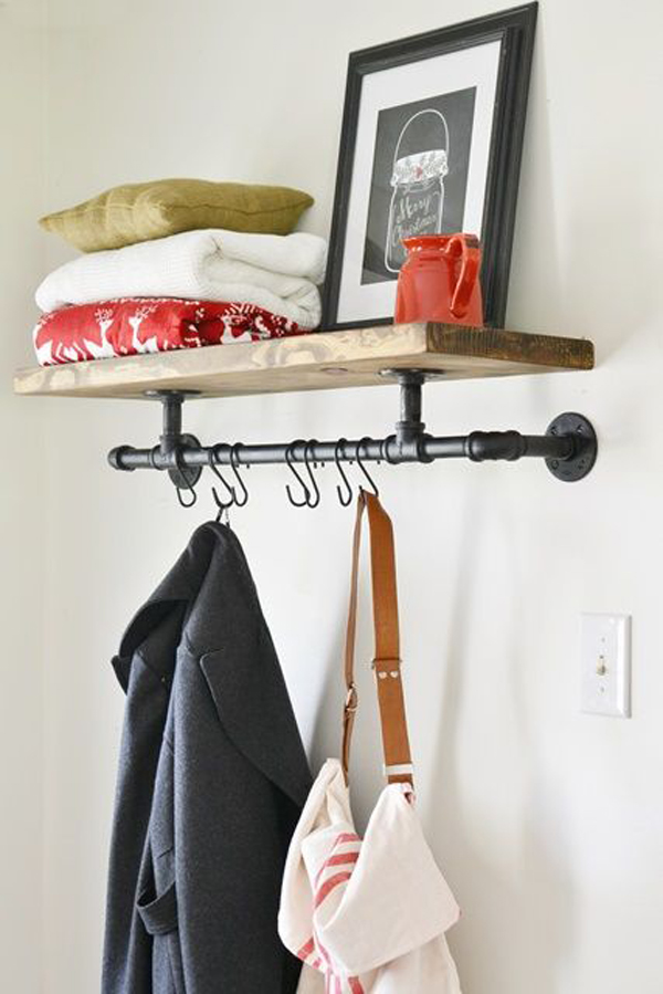 Diy Industrial Coat Rack Design