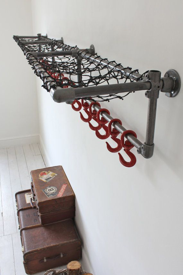 Gallery Of 15 Industrial Pipe Rack Storage Ideas