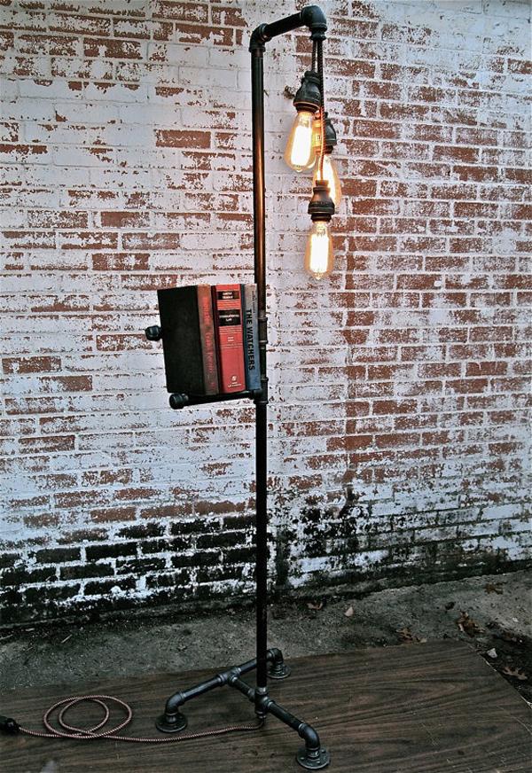 Industrial Pipe Floor Lamps