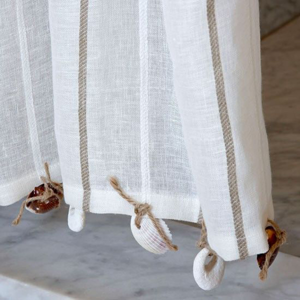 Seashell Curtains With Nautical Theme