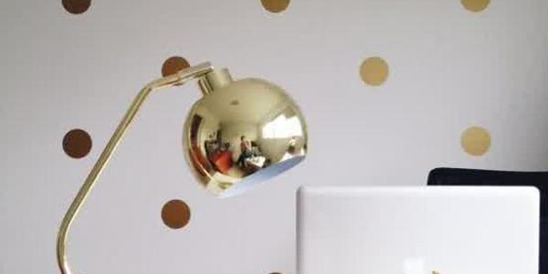 workspace-with-polka-dot-decor-ideas