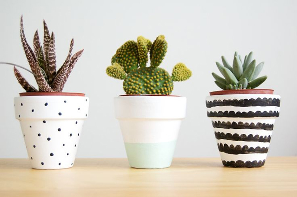 ... Painted Plant Pots Can Create Your Hobbies  Home Design And Interior
