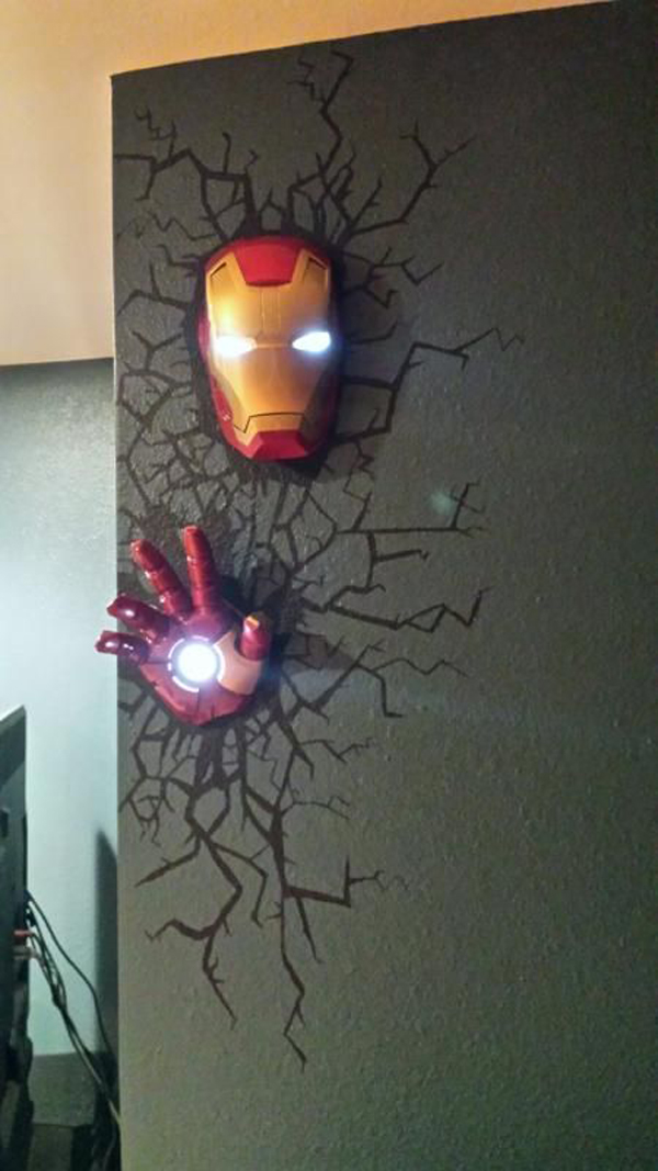 The Avengers Wall Lamps : The Avengers Superhero 3D deco lights Home Design And Interior