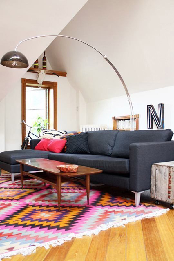 Kilim Rug With Sofa Furniture