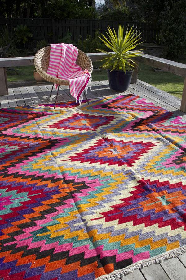 Outdoor Kilim Rug Ideas Homemydesign