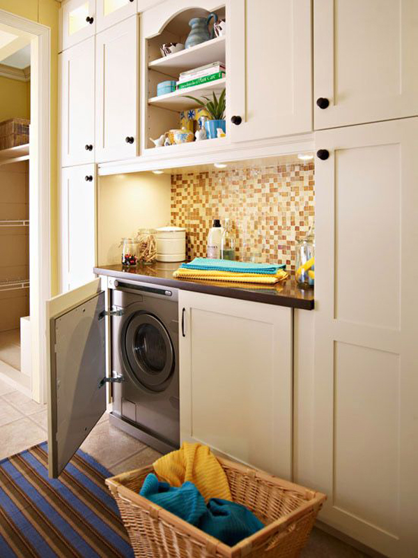 20 Stylish And Hidden Laundry Room Designs Homemydesign