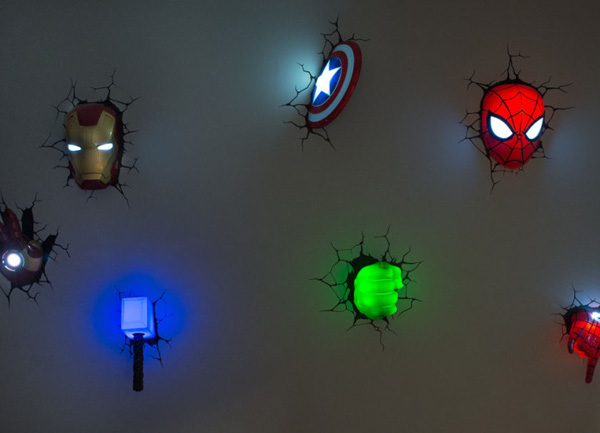The Avengers Superhero 3D Deco Lights | Home Design And Interior