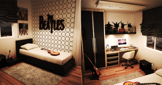 Interior Bedroom Theme bedroom theme home design and interior the beatles inspired bedrooms with music life