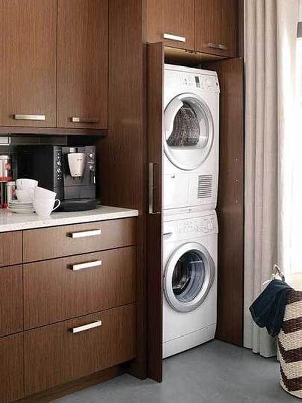 Wooden Hidden Laundry Cabinet Homemydesign