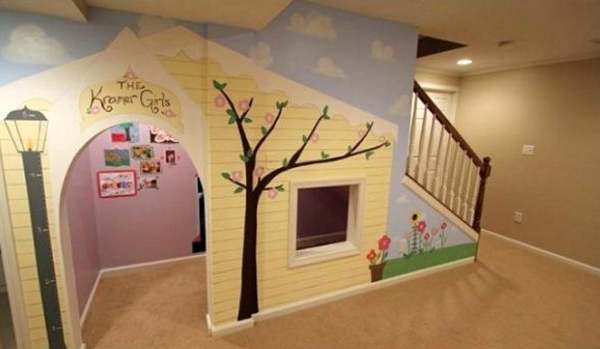Beautiful Playhouses Under Stairs Design