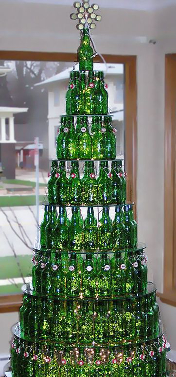 20 creative diy ideas to recycle beer bottles home Creative christmas decorations