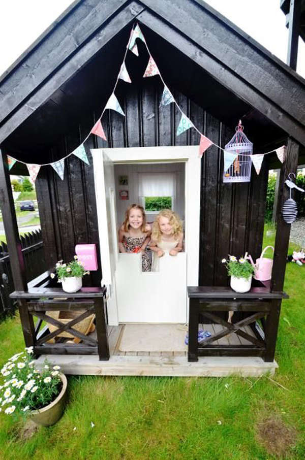 Black And White Outdoor Kids Playhouses Homemydesign