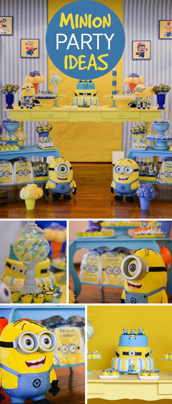 20 Cute Minions Birthday Party Ideas | Home Design And ...