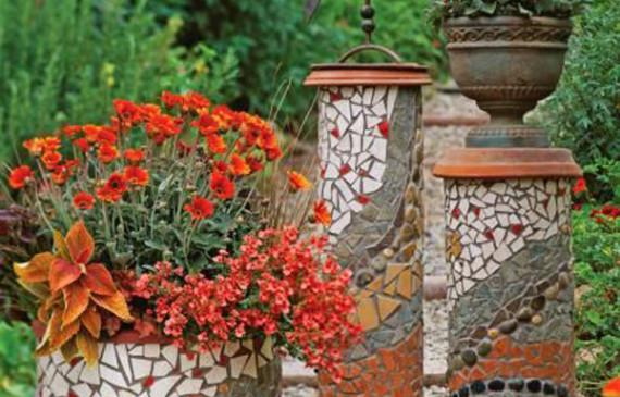 garden-flower-pots-mosaic-design