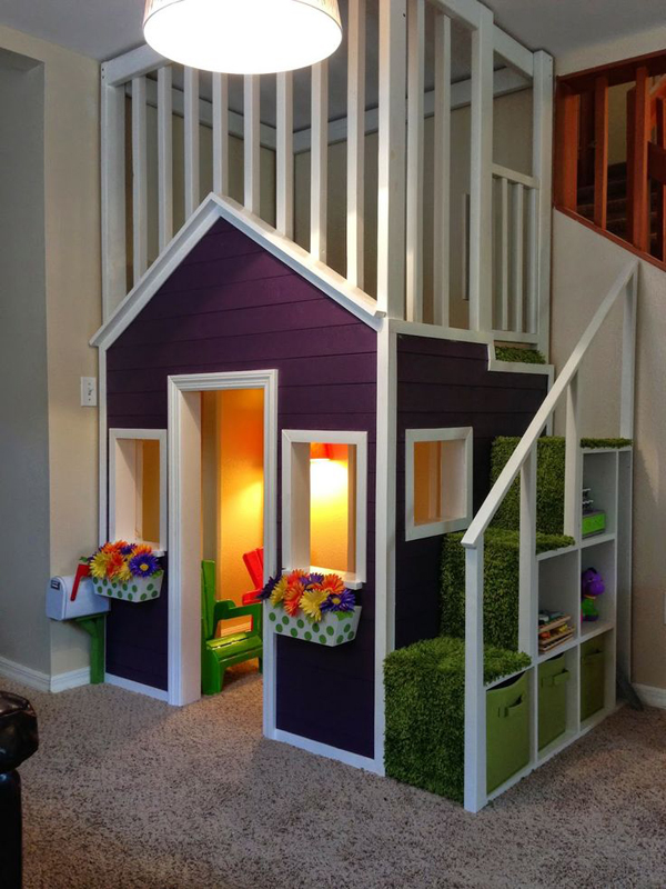 Indoor Playhouses With Upstairs