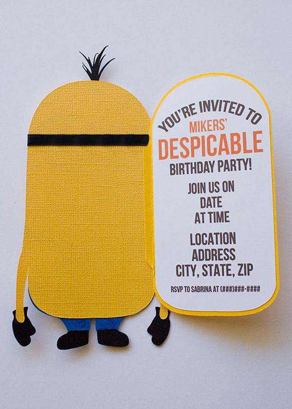 Minions birthday party invitations filmwisefo Choice Image