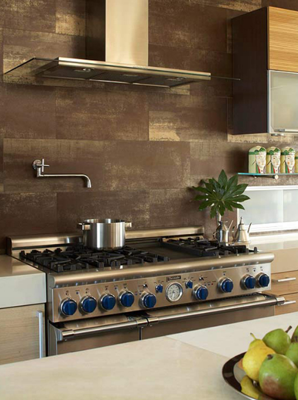 modern italian porcelain kitchen backsplash