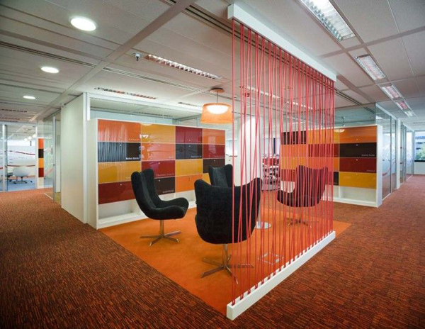 modern office rope walls