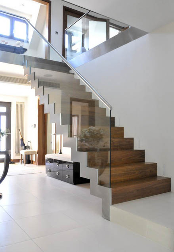 20 modern and minimalist staircase designs home design for Modern house stairs