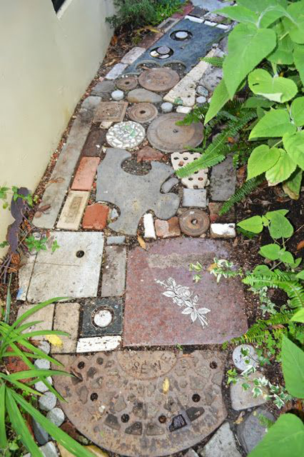 10 unique diy garden path designs home design and interior - Reclaimed brick design ideas ...