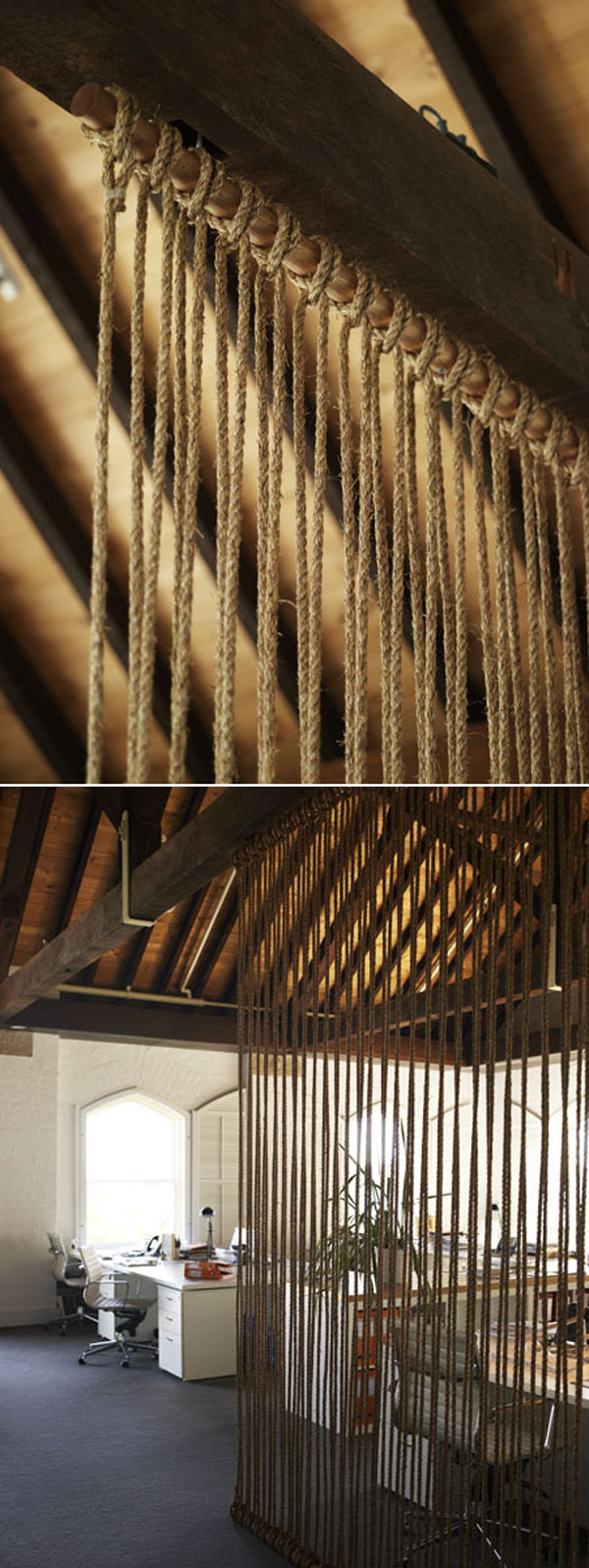 15 Simple Rope Wall For Room Dividers Homemydesign